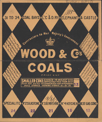 Advert For Wood & Co, coal merchant 6810